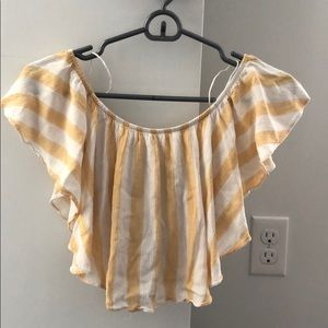 Ruffle striped crop top